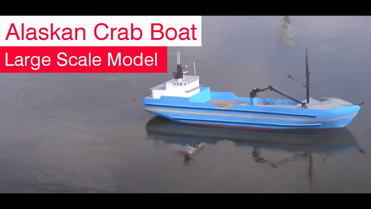 Alaskan crab fishing boat large scale rc replca youtube for Crab fishing boat