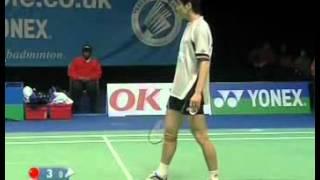 badminton all england 2005 md final cai fu vs rasmussen paaske 1