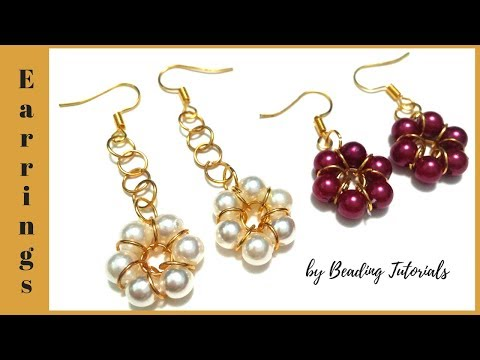 🌸How to make earrings in 10 minutes. Diy earrings🌸