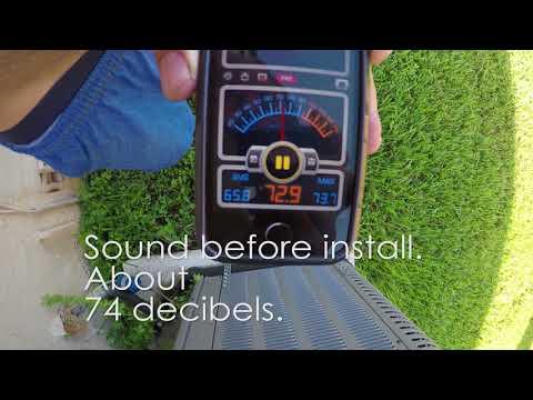Installing a Sound Blanket / Dampener - Home A/C Compressor