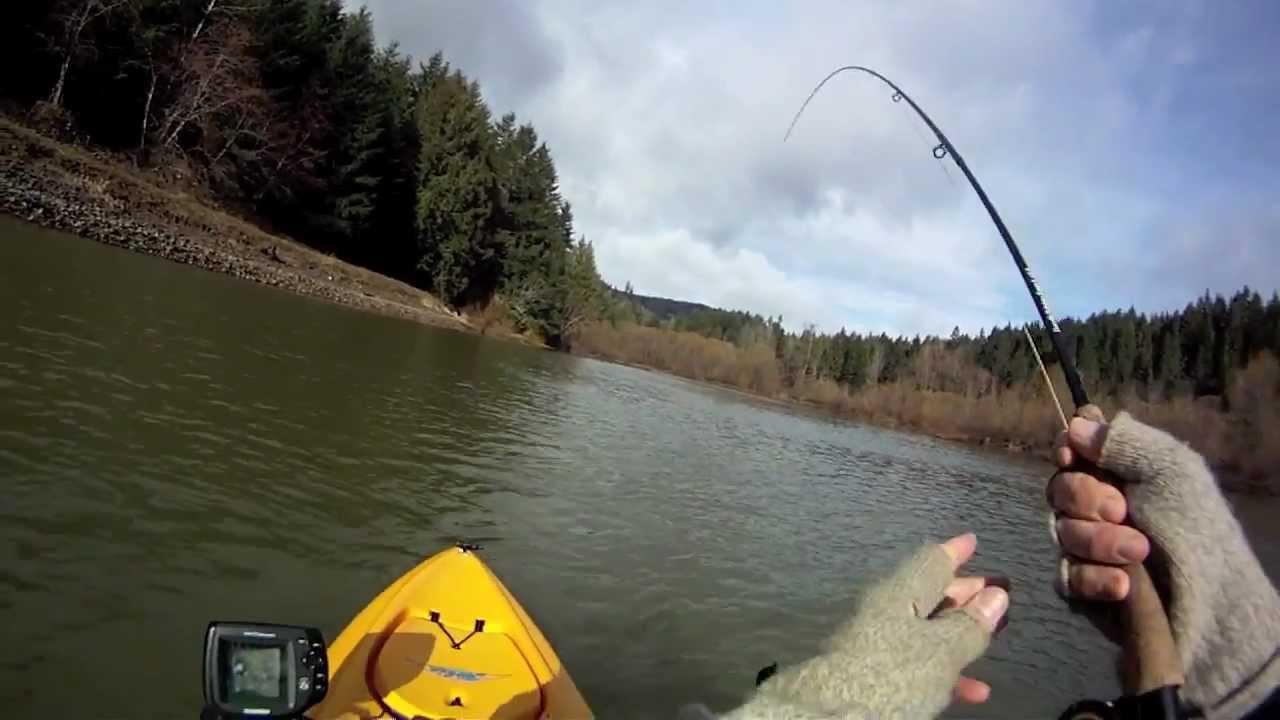 Kayak fly fishing henry hagg lake in march youtube for Oregon out of state fishing license