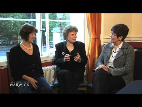 Prof. Maxine Berg, Patricia Hudson and Kristine Bruland
