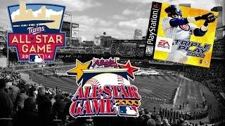 Triple Play 2000 - (PS1) - HD - 2000 MLB Allstar Game | Tony Gwynn or Mark McGwire?