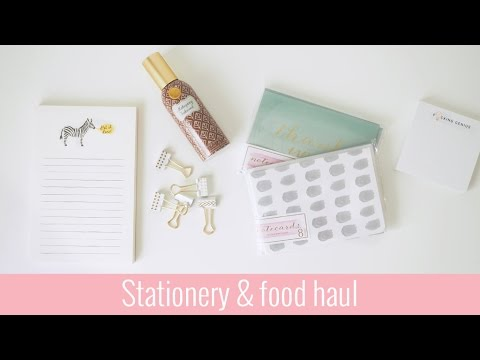 Chicago lifestyle haul | Stationery & food | Axelle Blanpain