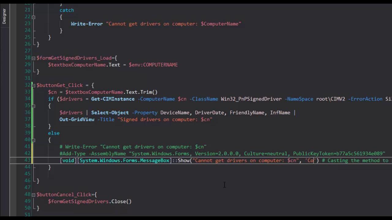 MessageBox: Display user messages in a PowerShell GUI app