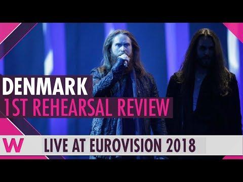 "Denmark First Rehearsal: Rasmussen ""Higher Ground""  @ Eurovision 2018 (Review) | wiwibloggs"