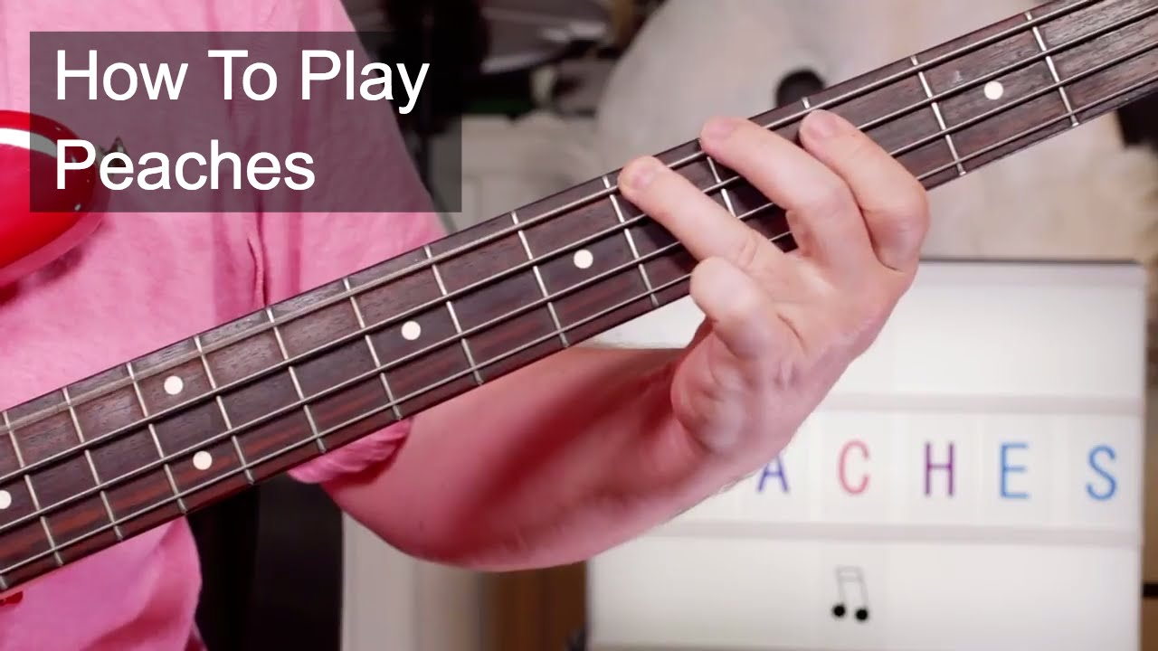 Peaches The Stranglers Guitar Bass Lesson Youtube