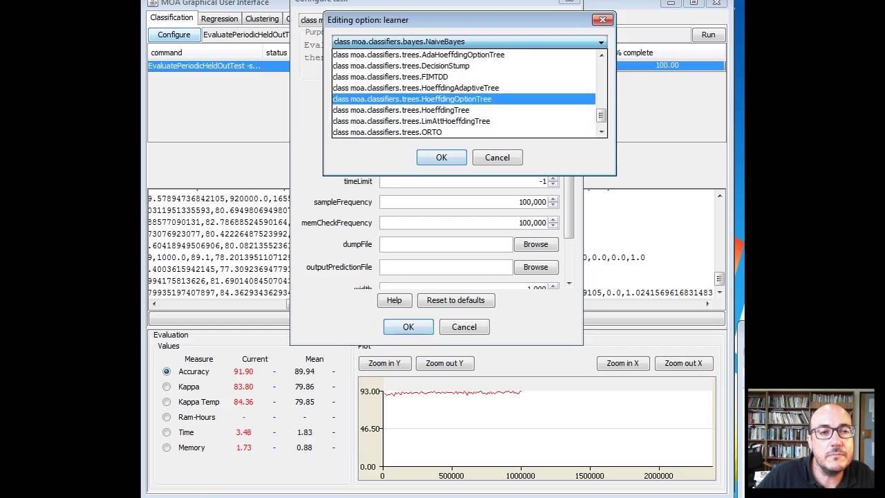 Advanced Data Mining With Weka 2 3 The Moa Interface Youtube