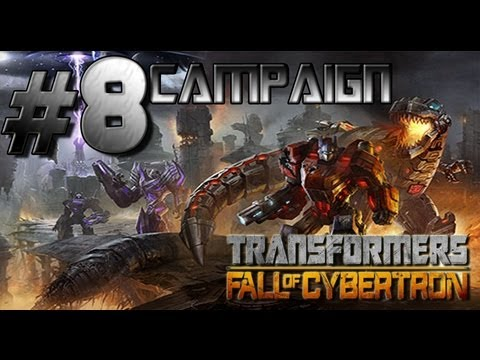 Transformers Fall of Cybertron - Walkthrough Part 8 Eye of the Storm, everything explodes!