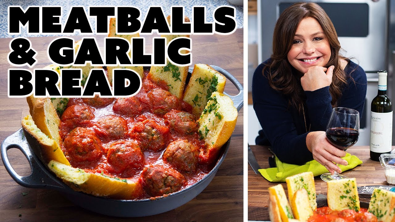 Download Rachae Makes Roasted Meatballs w/ Garlic Bread | 30 Minute Meals with Rachael Ray | Food Network
