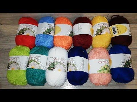 Пряжа для ручного вязания АРЕОЛА, распаковка и обзор на акриловые нитки, 12 цветов
