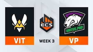 Vitality vs Virtus Pro Map 1 Nuke ECS Season 7 Week 3 DAY1