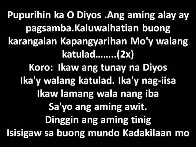 Ikaw ang tunay na Diyos with lyrics (MCM Worship Team Cover) Chords ...
