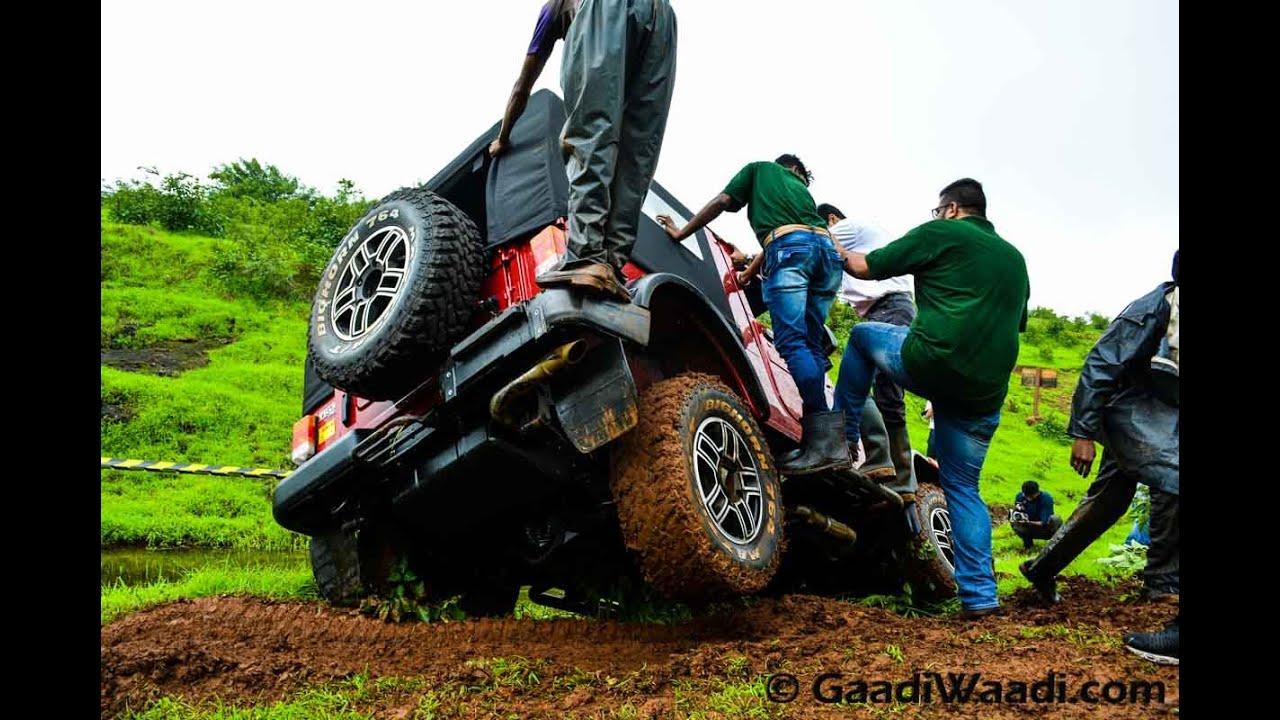 Mahindra Thar Facelift Off Road Drive Youtube