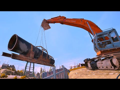 Gold Trommel Installation Nightmare - New Tier 4 Gold Mining - Gold Rush The Game