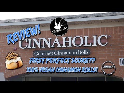 100% VEGAN CINNAMON ROLLS! Trying Cinnaholic for the 1st Time! First Perfect Score???