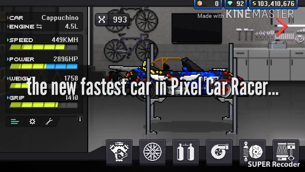 Pixel Car Racer - NEW FASTEST 1/4 MILE CAR 2018 (v1 1 14)