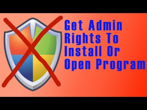 Get admin rights to install a program HD LT