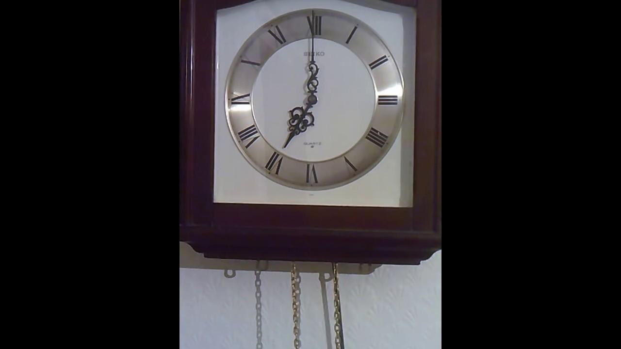 Seiko quartz pendulum wall clock youtube seiko quartz pendulum wall clock amipublicfo Image collections