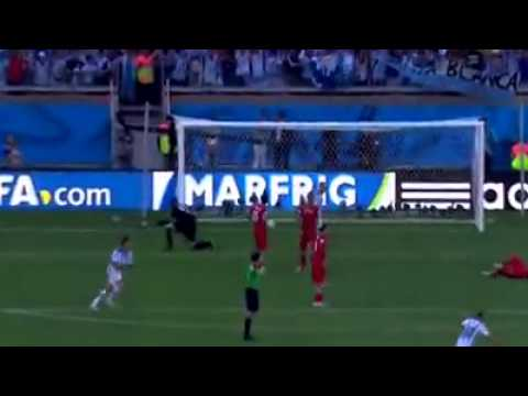 Messi goal against iran...!