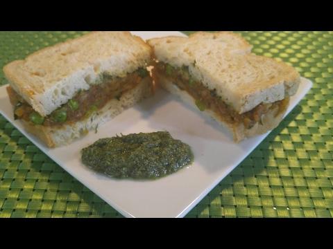 Gluten free and Sugar free Aloo Mattar Sandwich