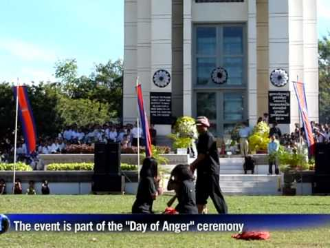 """Day of Anger"" ceremony at Choeung Ek killing field"
