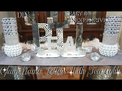 DIY BLING LETTERS  | EASY & INEXPENSIVE DOLLAR STORE DIY | ROOM DIY DECOR IDEAS | PETALISBLESS