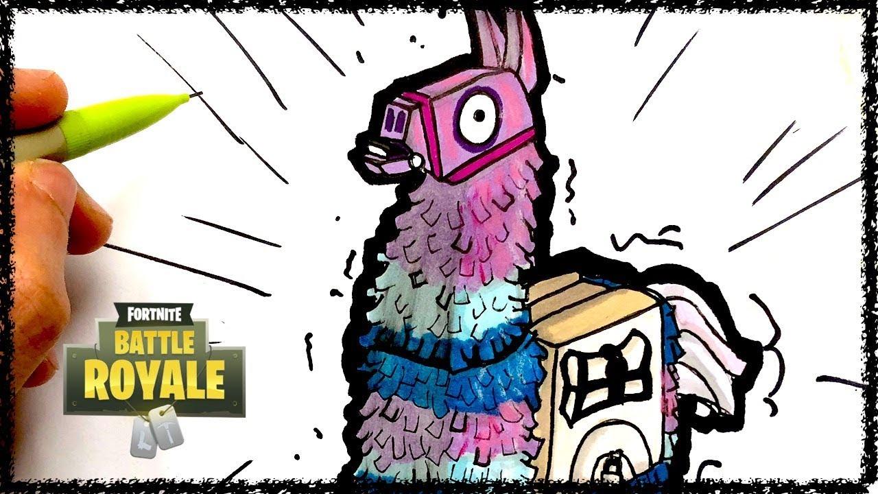 Draw Llama Fortnite