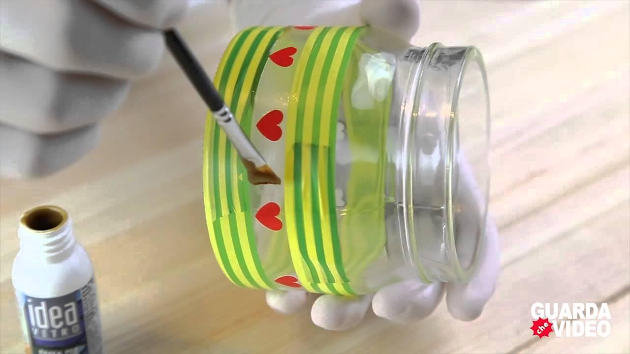 Ecco come decorare bicchieri e barattoli in maniera - Come decorare un barattolo ...