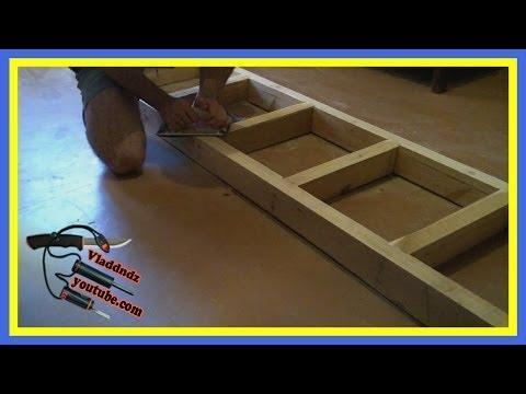 САМОДЕЛКИН. Изготовление деревянной лестницы (часть #1)