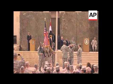 The U.S. military has formally shut down the war in Iraq, officially retiring the flag of U.S. Force