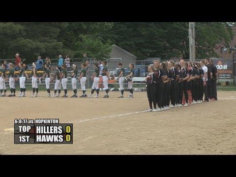 Milford Lady Hawks Softball - 2017 MIAA Tournament: Semi-Finals vs Hopkinton