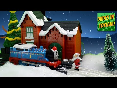 Thomas & Friends in Toyland! Christmas train toys trackmaster Cranky the Crane videos for kids