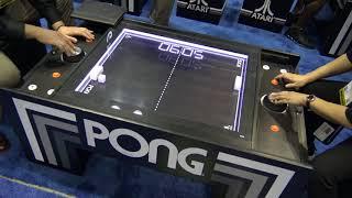 Atari Pong Table Electromechanical Game Debut @ IAAPA 2017 (Calinfer / UNIS)