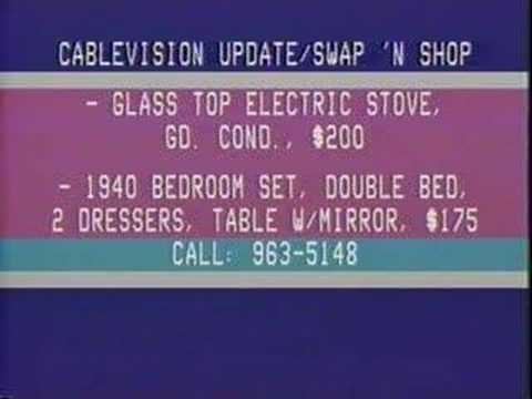 Swap 'N Shop Text Channel  Cablevision of Downers Grove, IL 1984
