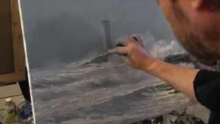 Морской пейзаж, художник Сахаров, уроки живописи и рисунка