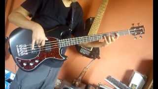 "Never Ending Hill - King Diamond - Bass Cover. (""eb bass"", from gibson usa.)"