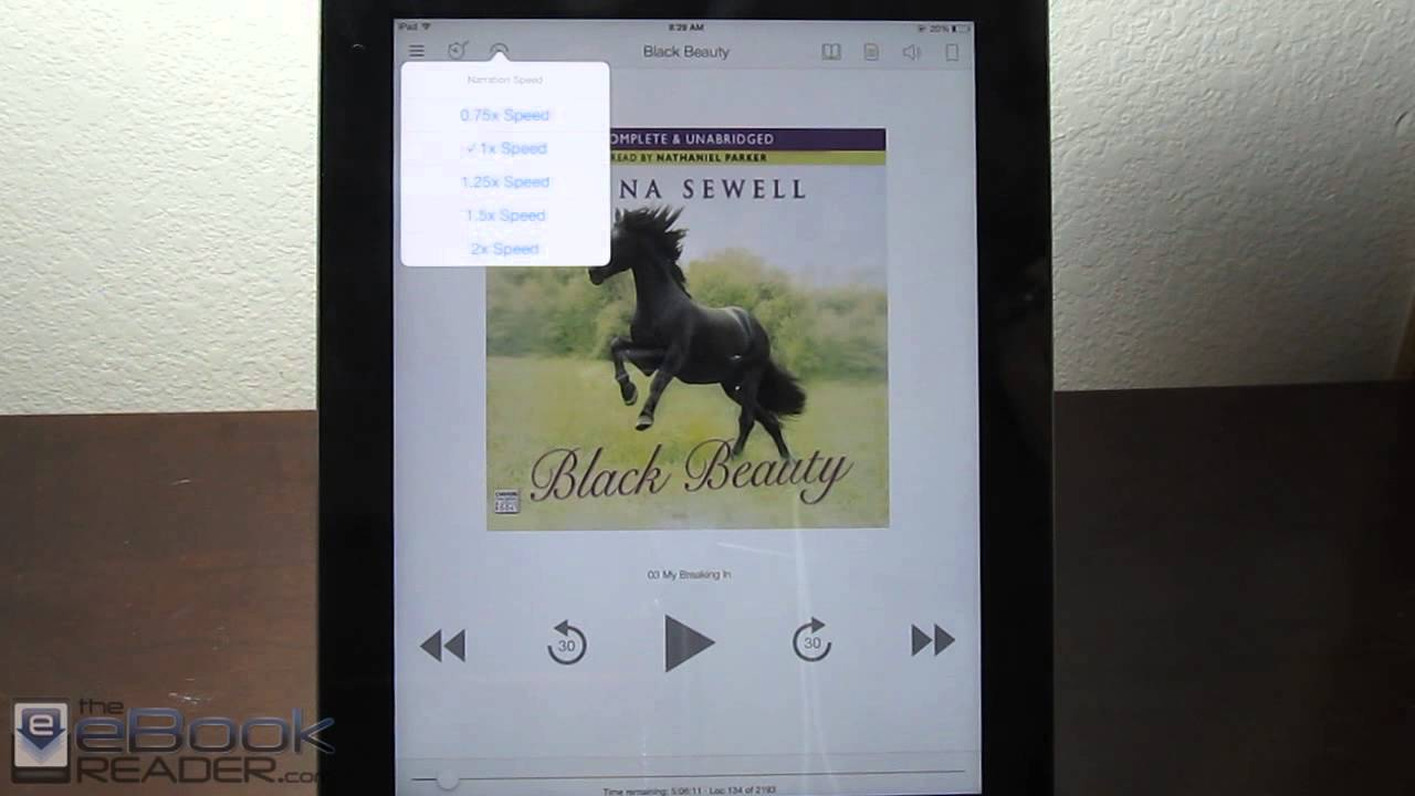 Kindle eBooks and Audiobooks Integrated - iPad Whispersync for Voice Demo