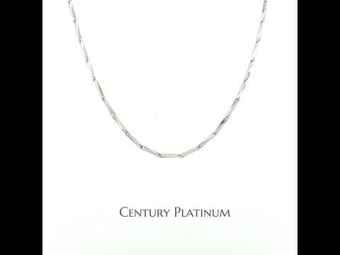 世紀白金 PT950 鉑金項鍊 白金項鍊 三角鍊 洗溫泉OK 天然白色 永不變黑 WNA020