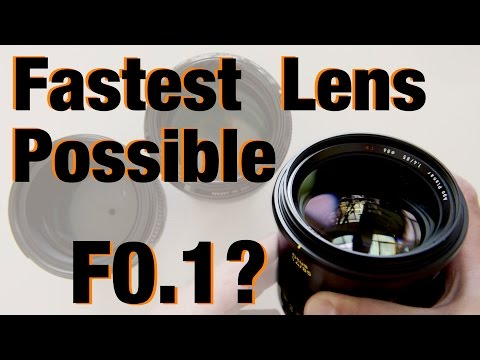 What's the Fastest Lens Theoretically Possible? And What Would it Look Like?