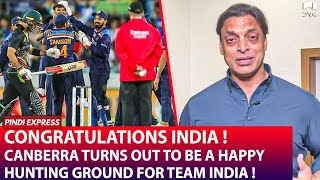Congratulations India ! | Canberra is a Happy Hunting Ground For Team India ! | Shoaib Akhtar | SP1N