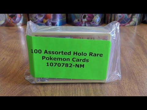 100 Rare Holo Pokemon Card Lot Opening
