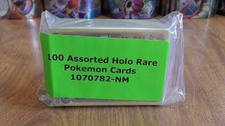 100 Rare Holo Pokemon Card Lot Opening
