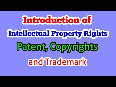 Intellectual Property Law in Hindi | Intellectual Property, Patent, Copyrights and trademark