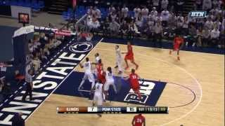 Illinois Basketball Highlights vs. Penn State 2/9/14