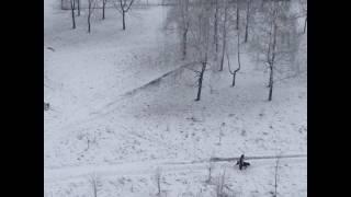 Вид из окна. Погода 31.03.17. Москва.