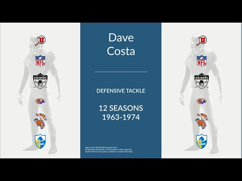 Dave Costa: Football Defensive Tackle and Defensive End