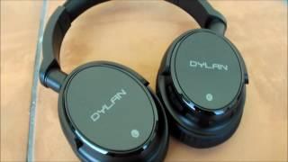 Cuffie Headphones Bluetooth wireless 4.0 con microfono integrato eleganti ottimo suono + borsa Dylan