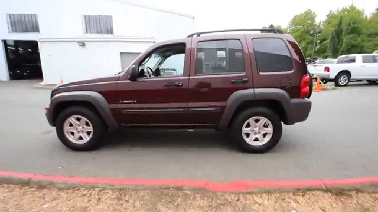 2004 jeep liberty sport   deep molten red   4w263231   redmond