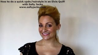 How To Style Your Hair In A Elvis Quiff Youtube